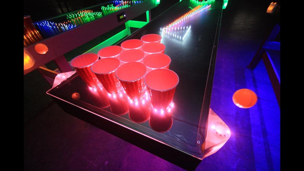 Penumbra Interactive Led Beer Pong Table By Penumbra Tables Mark Alway Kickstarter