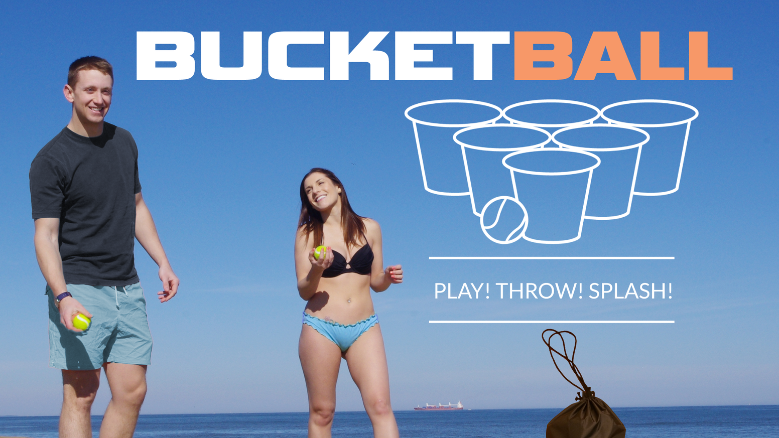 BucketBall is a new beach, poolside and backyard game that is played like beer pong but on a larger scale with buckets & game balls.