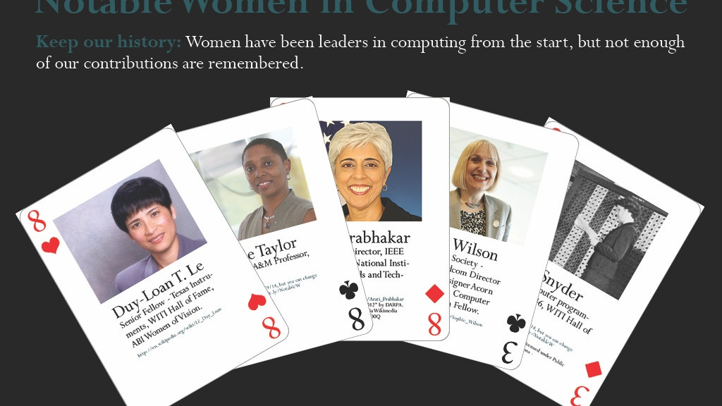 Notable Women in Computing Card Deck project video thumbnail
