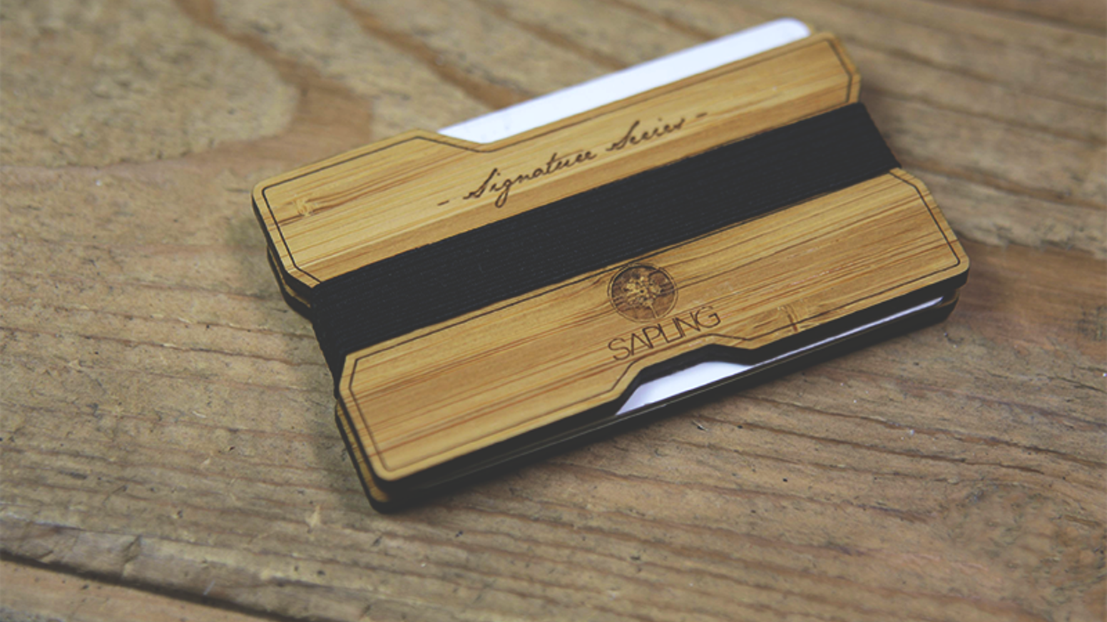 Sapling Signature Series Wood Wallet V2 by John McConnell