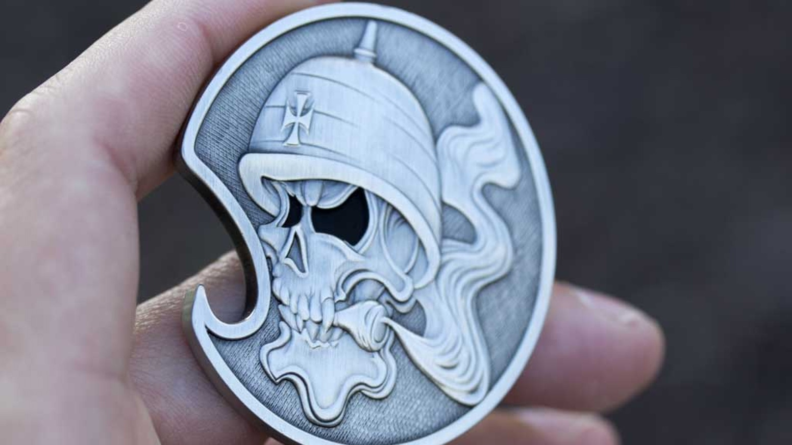 Solid Brass Motorcycle Creed Challenge Coin / Bottle Opener! by