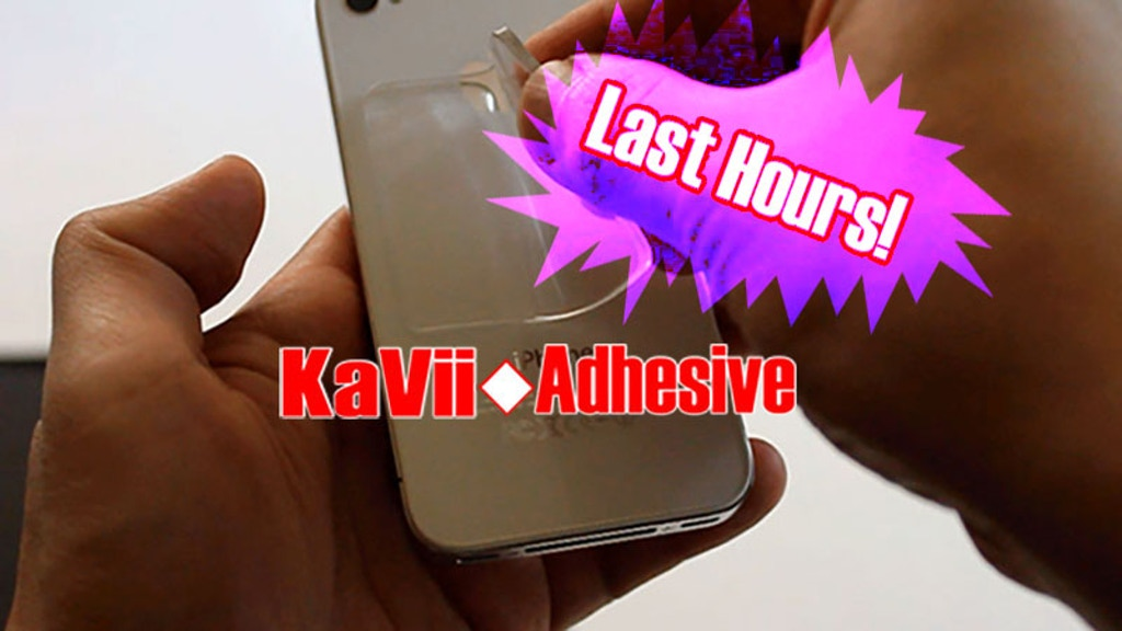 KaVii Adhesive-Stick your Smartphone and Tablet on the WALL project video thumbnail