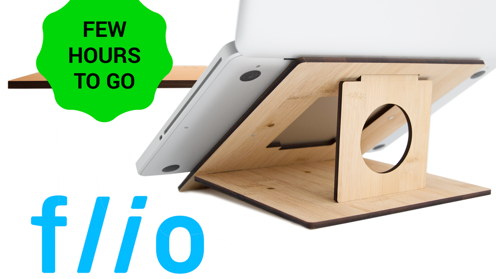 FLIO - ultra slim & portable wooden laptop stand project video thumbnail