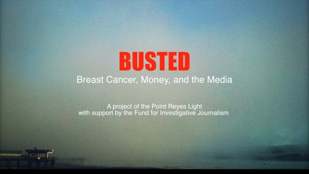 Busted: Breast Cancer, Money, and the Media project video thumbnail