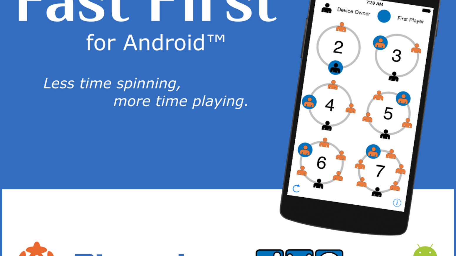 an android version of the quickest app to choose a start player for your tabletop - Time Card App For Android