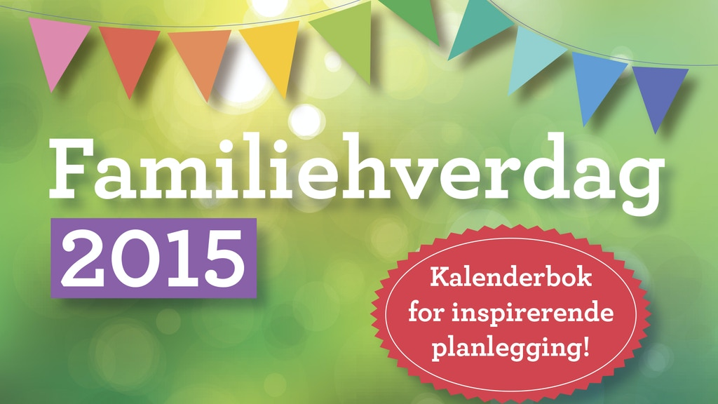 Familiehverdag 2015 kalenderbok project video thumbnail