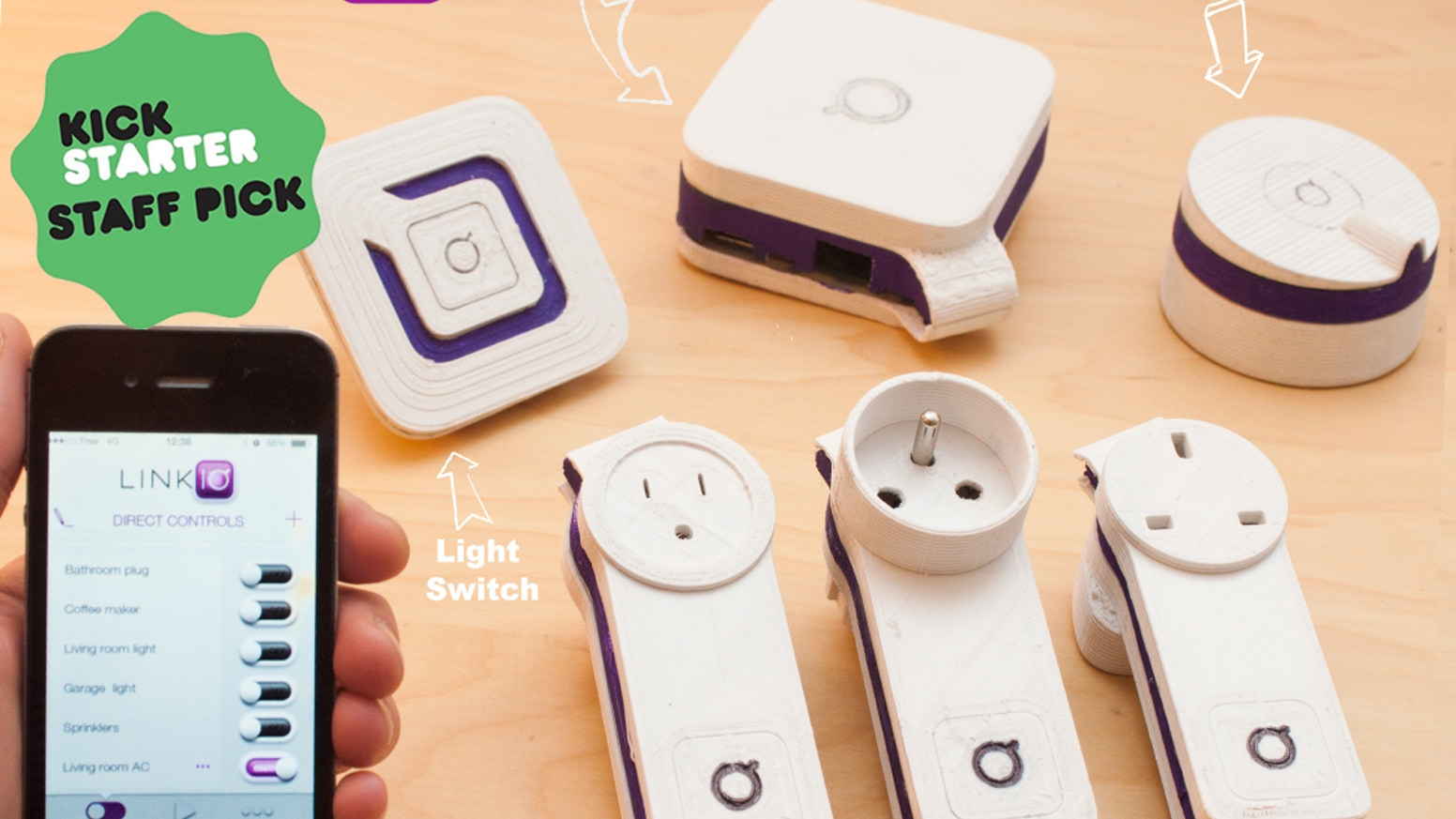 With Linkio you can use your smartphone to control every electronic you own- for only $100!
