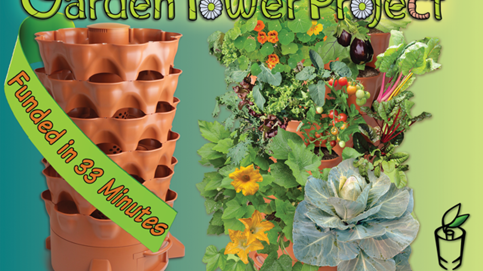 Grow 50 plants in just 4 square feet -- from almost anywhere. Fueled by vermi-composting, Garden Tower 2 is a revolution in fresh food!