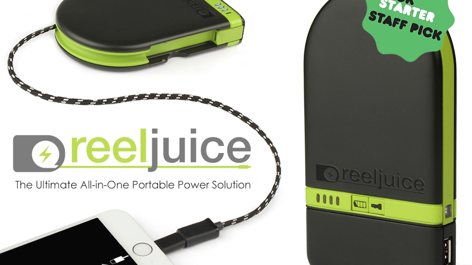 "World's first power bank with fully retractable, 48"" charging cable, so you'll always be prepared to recharge your phone or tablet!"