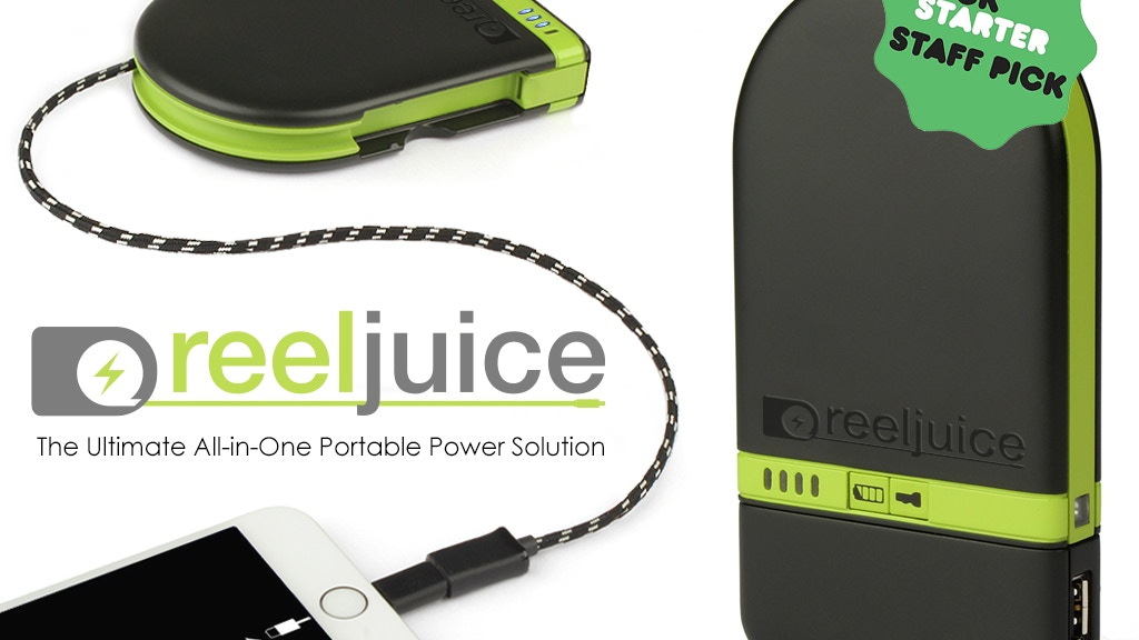 Reeljuice Portable Power Solution for Smart Phones & Tablets project video thumbnail