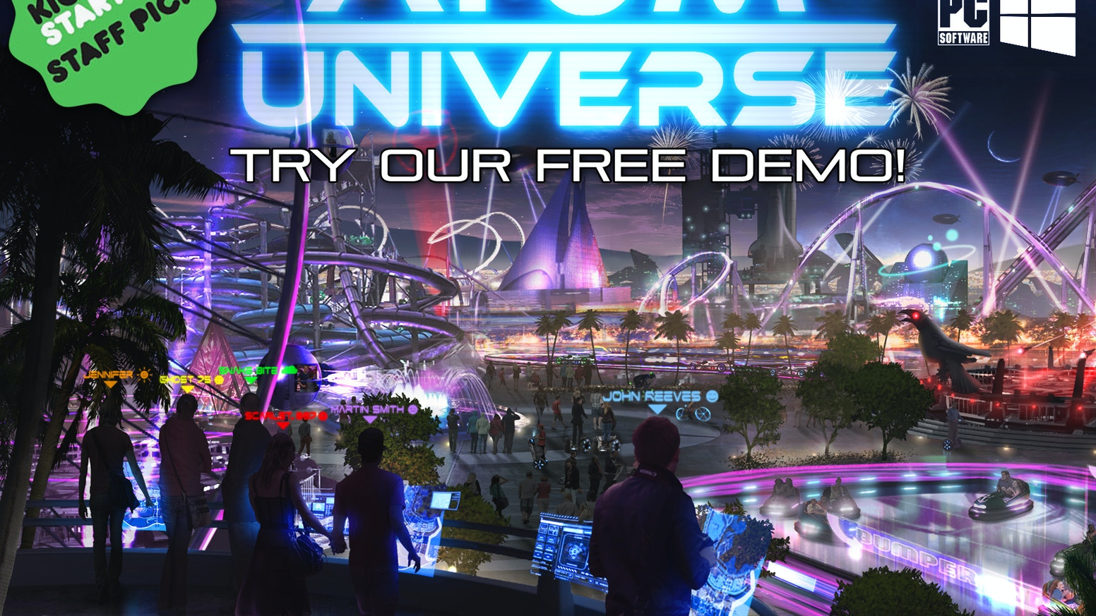 Atom Universe: a virtual reality Theme Park on PC and PS4 by Atom