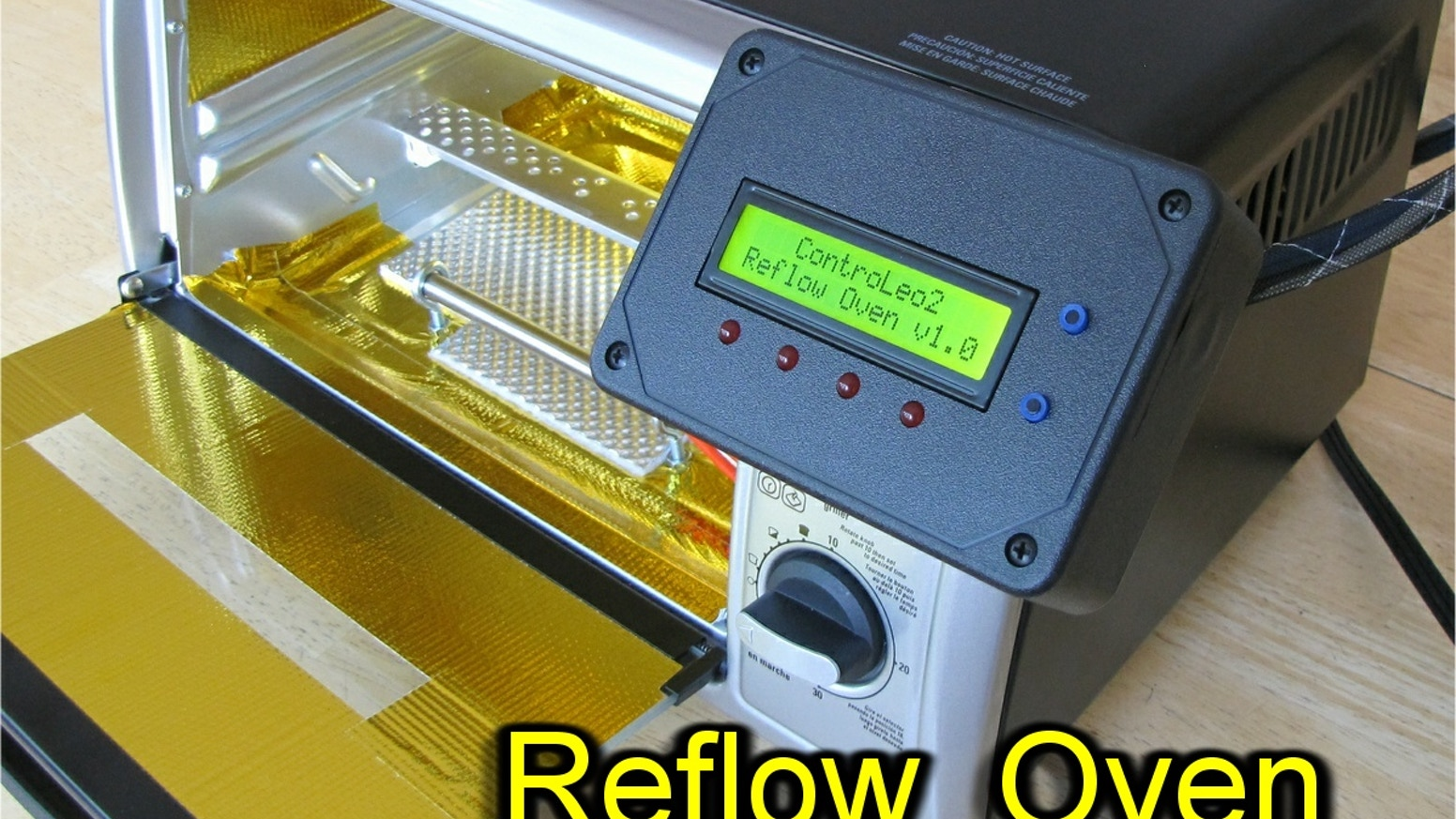 Low-cost, high quality reflow oven for surface-mount PCB assembly at home.  Get professional results consistently and reliably!