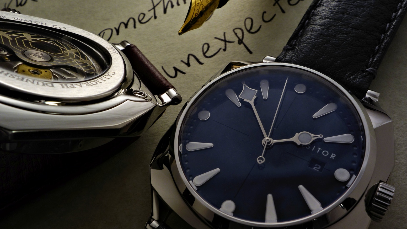 A mechanical watch of original and unexpected design, inspired by sand dunes, sculpture, and the beauty of calligraphy.