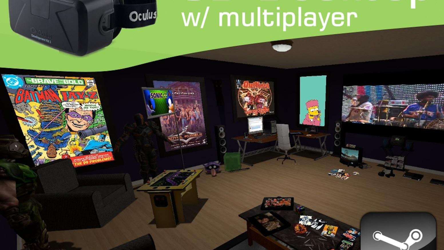 3D VR Desktop & Multiplayer Web w/ Oculus: Anarchy Arcade by