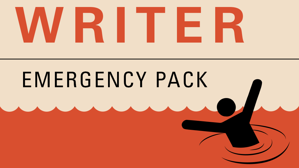 Writer Emergency Pack - helping writers get unstuck project video thumbnail