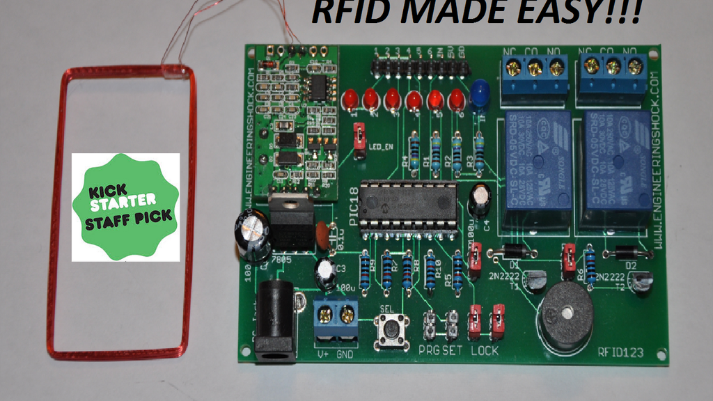 The RFID123 Arduino Compatible RFID Reader  - Decoder Set project video thumbnail