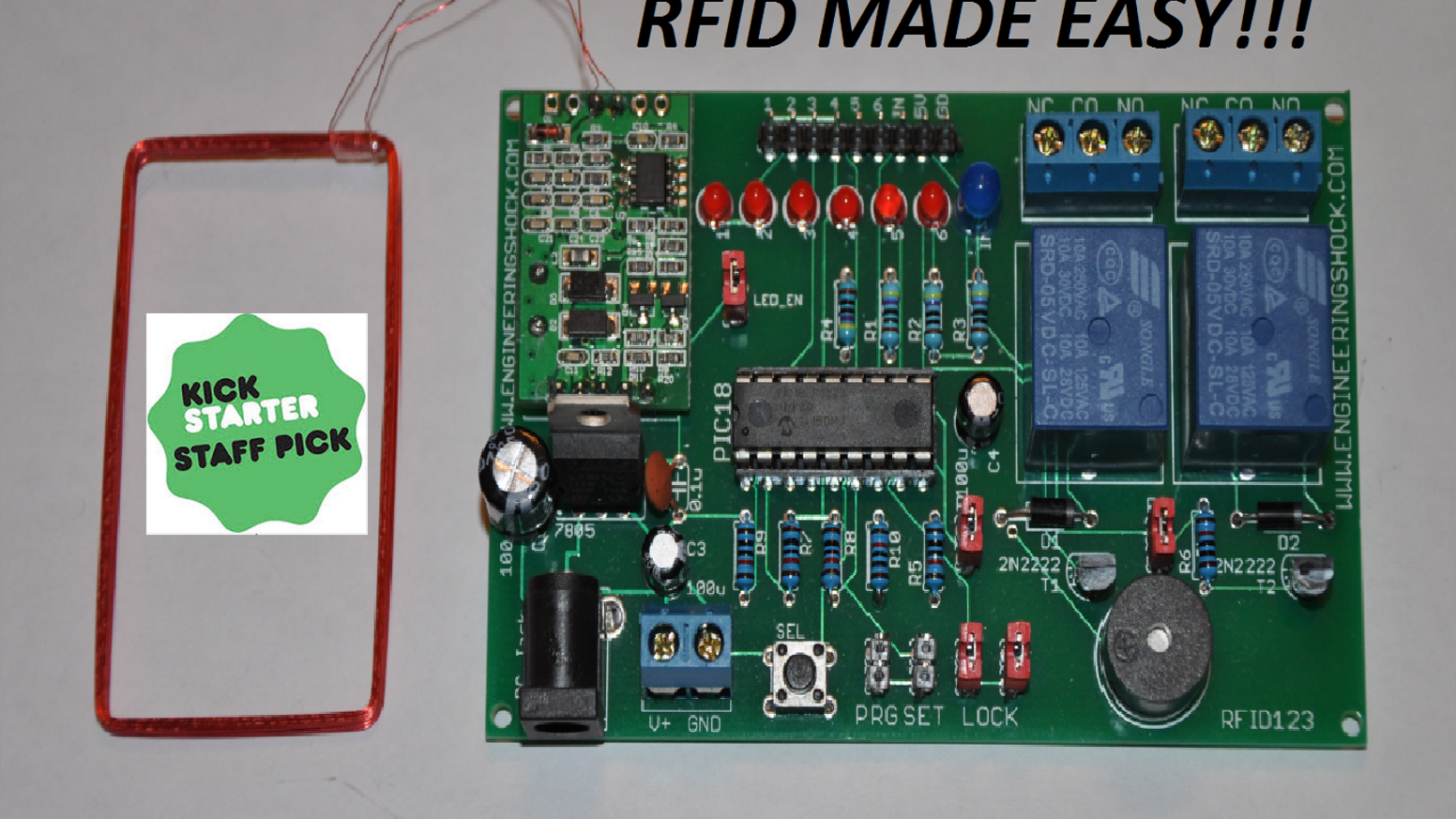 The RFID123 Arduino Compatible RFID Reader - Decoder Set by