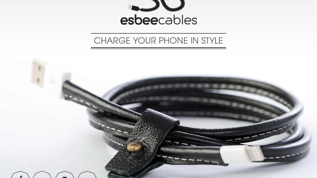 World's first handmade leather charging cable | Esbee Cables project video thumbnail