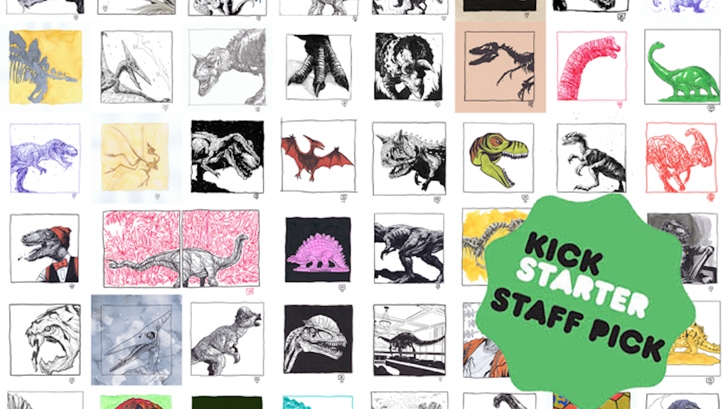 Dino-Day Art Book by Jeremy Haun project video thumbnail