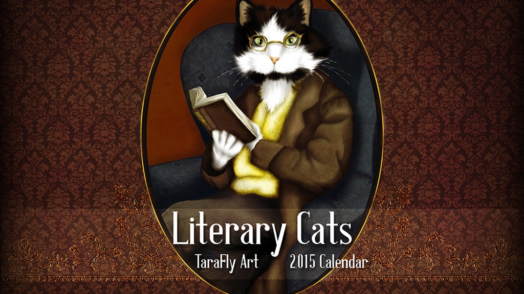 Literary Cat Art 2015 Calendar, Cats in Period Clothing project video thumbnail