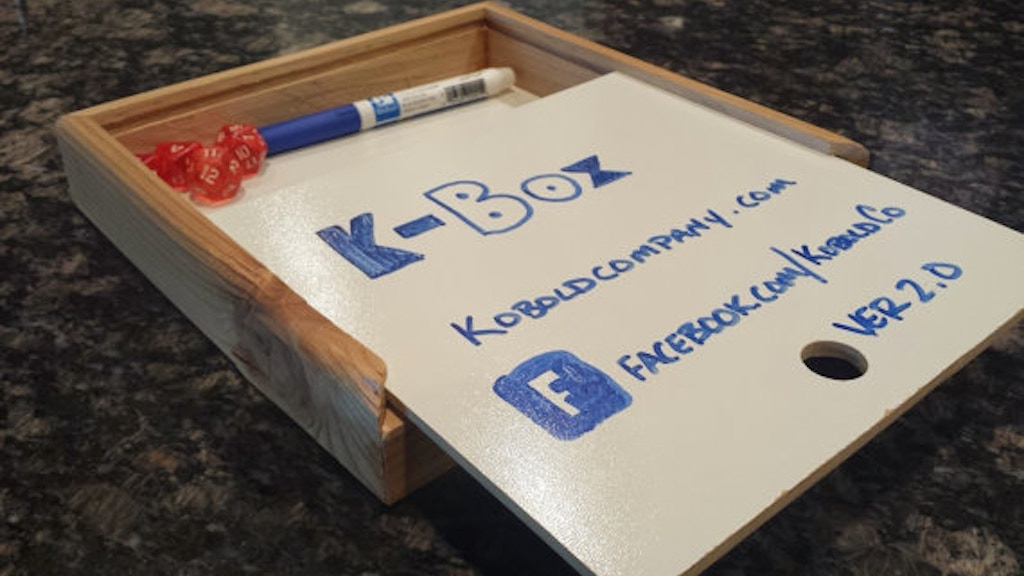 KBOX - Handcrafted Whiteboard Dicebox project video thumbnail