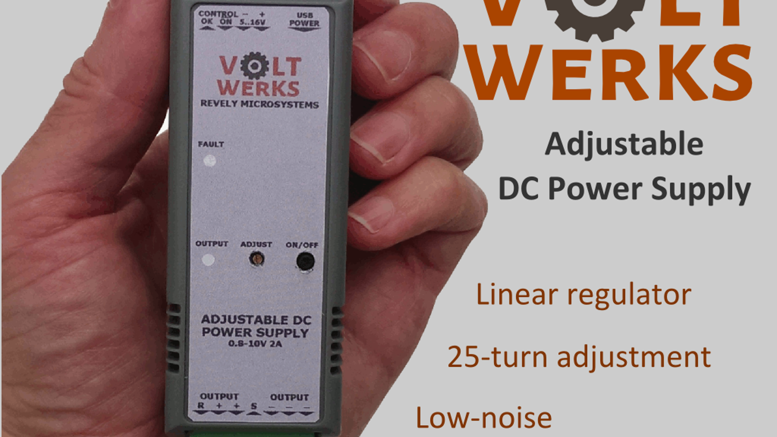 Voltwerks Precisely Adjustable Power Supply For Your Lab By Jon Very Popular Images Electronic Projects Get A Precision All Provides Low Noise 08 10v