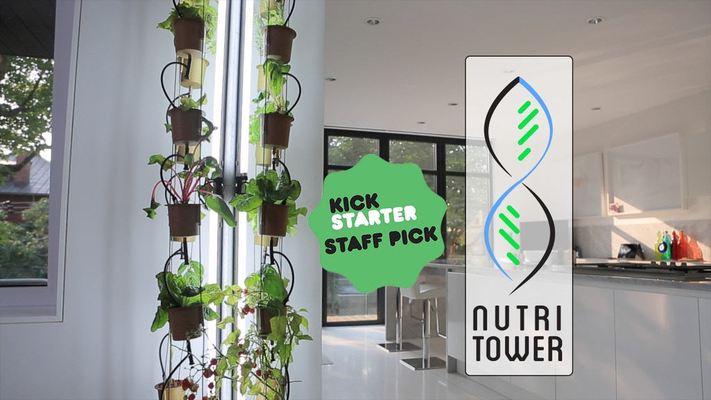 The NutriTower - indoor gardening made easy! project video thumbnail