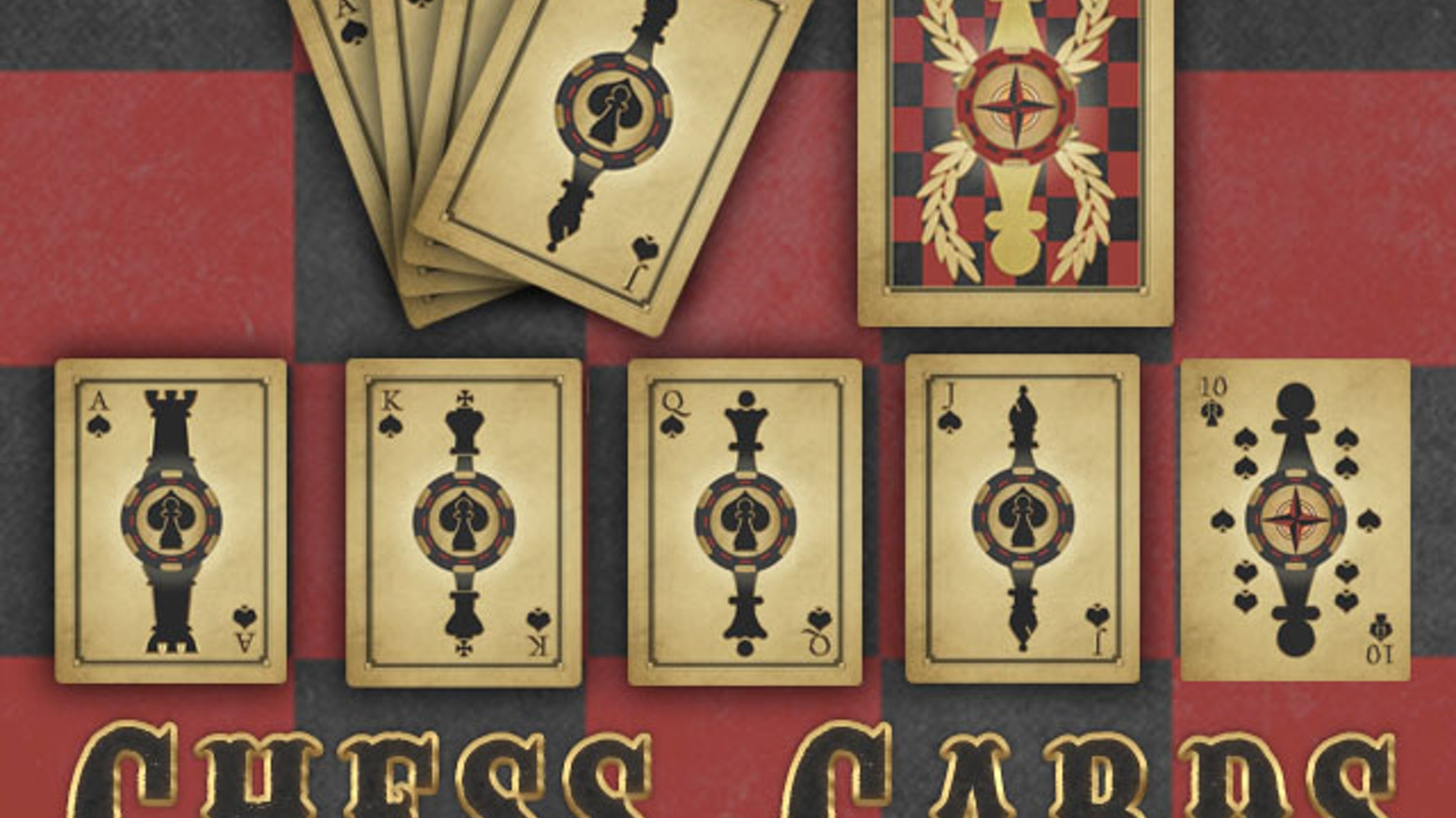 Chess Cards is a unique deck of playing cards that can be used to play your favorite card game or a challenging game of chess.