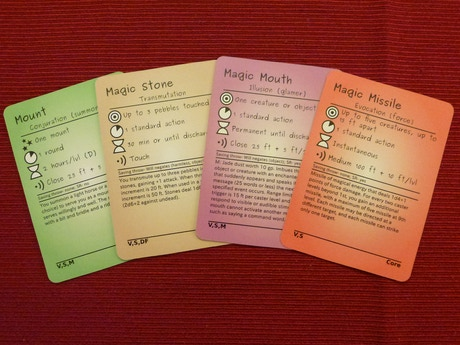 Spellcards For The Pathfinder Role Playing Game By Robert