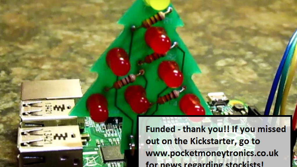 GPIO Xmas Tree kit for the Raspberry Pi project video thumbnail