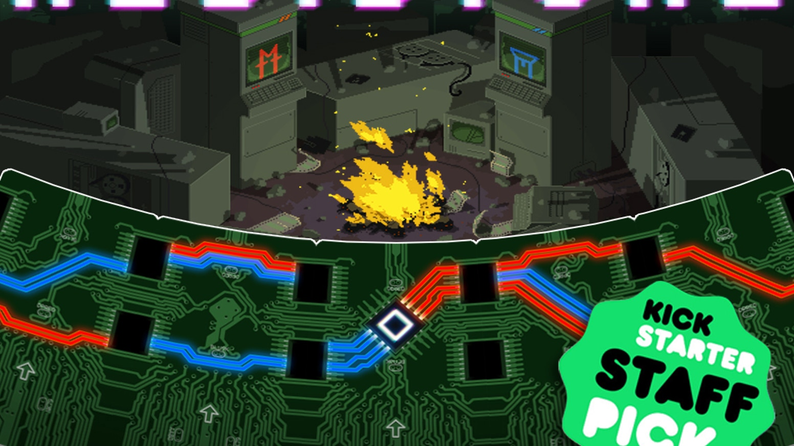 A competitive card game where you play as two supercomputers trying to hack each other to prevent mutually assured destruction.