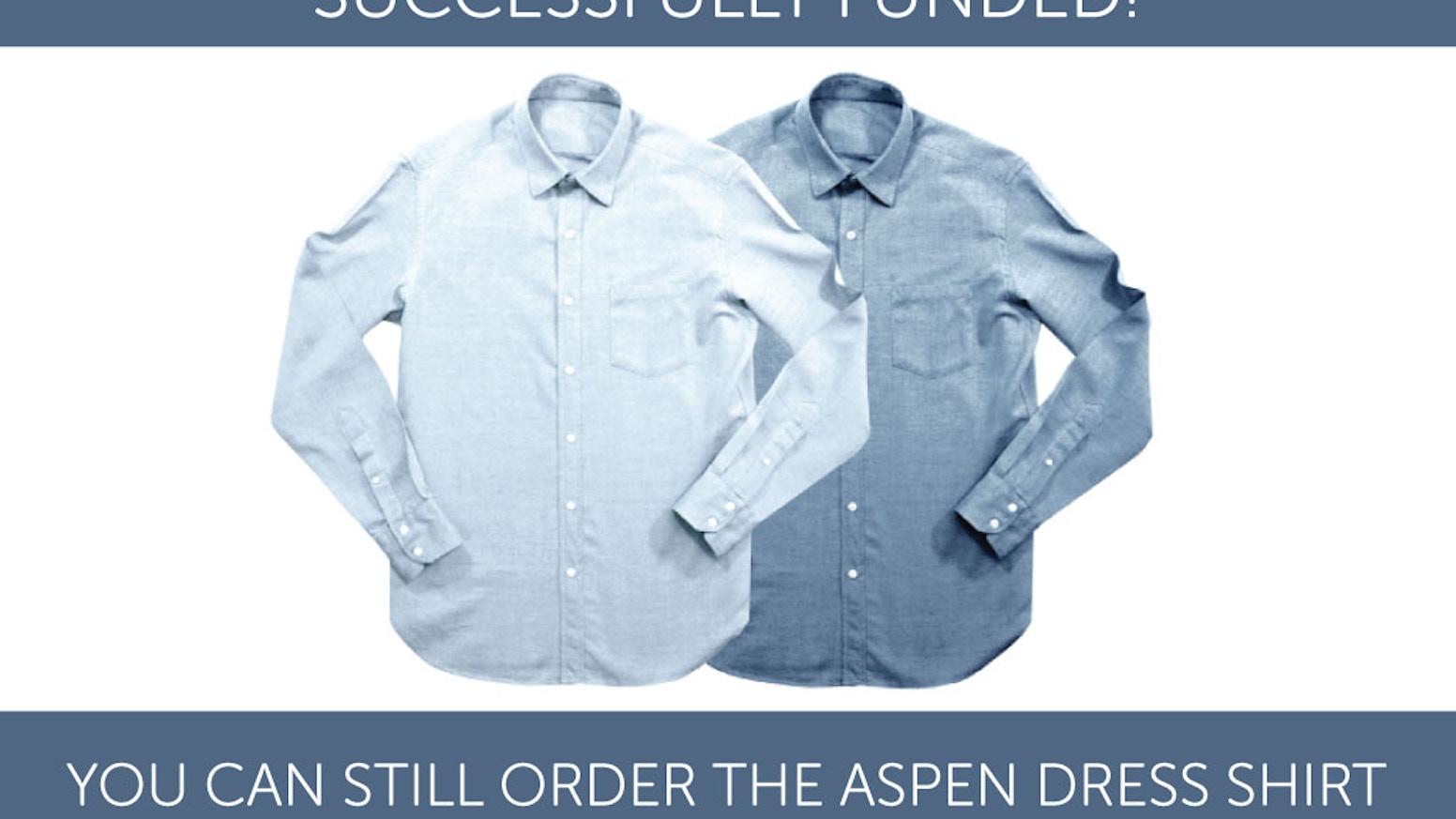 The Ninox Aspen A Merino Organic Cotton Dress Shirt By Ninox