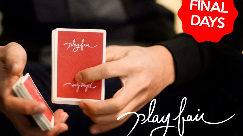 Play Fair: A custom deck of playing cards project video thumbnail