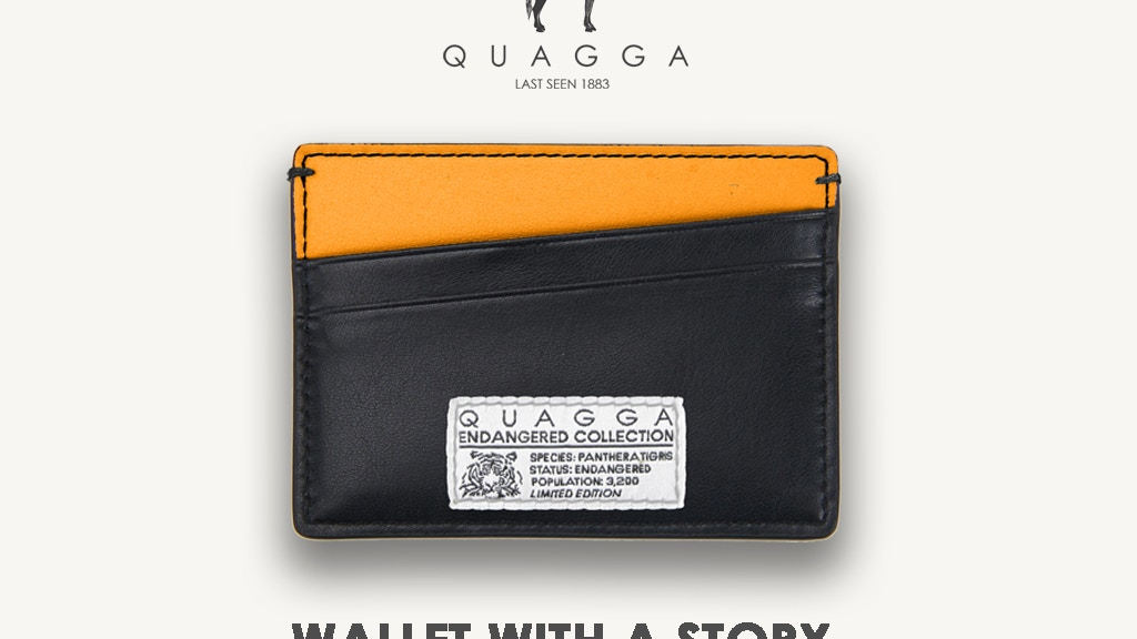 Buy the Wallet. Save the Tigers. Only 3,200 ever made. project video thumbnail