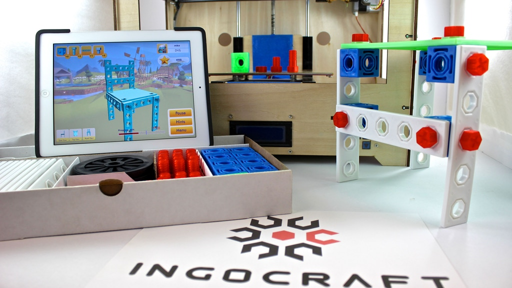 Ingocraft: 3D Printable Construction Set and 3D Modeling App project video thumbnail