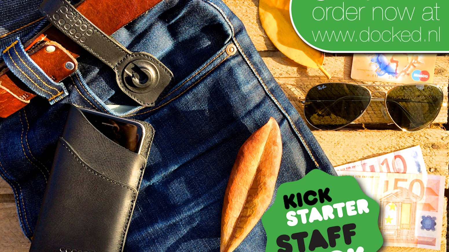 Reinventing the iPhone sleeve! Don't hide it in your pocket, just wear it! With a revolutionary magnetic anti-theft system.