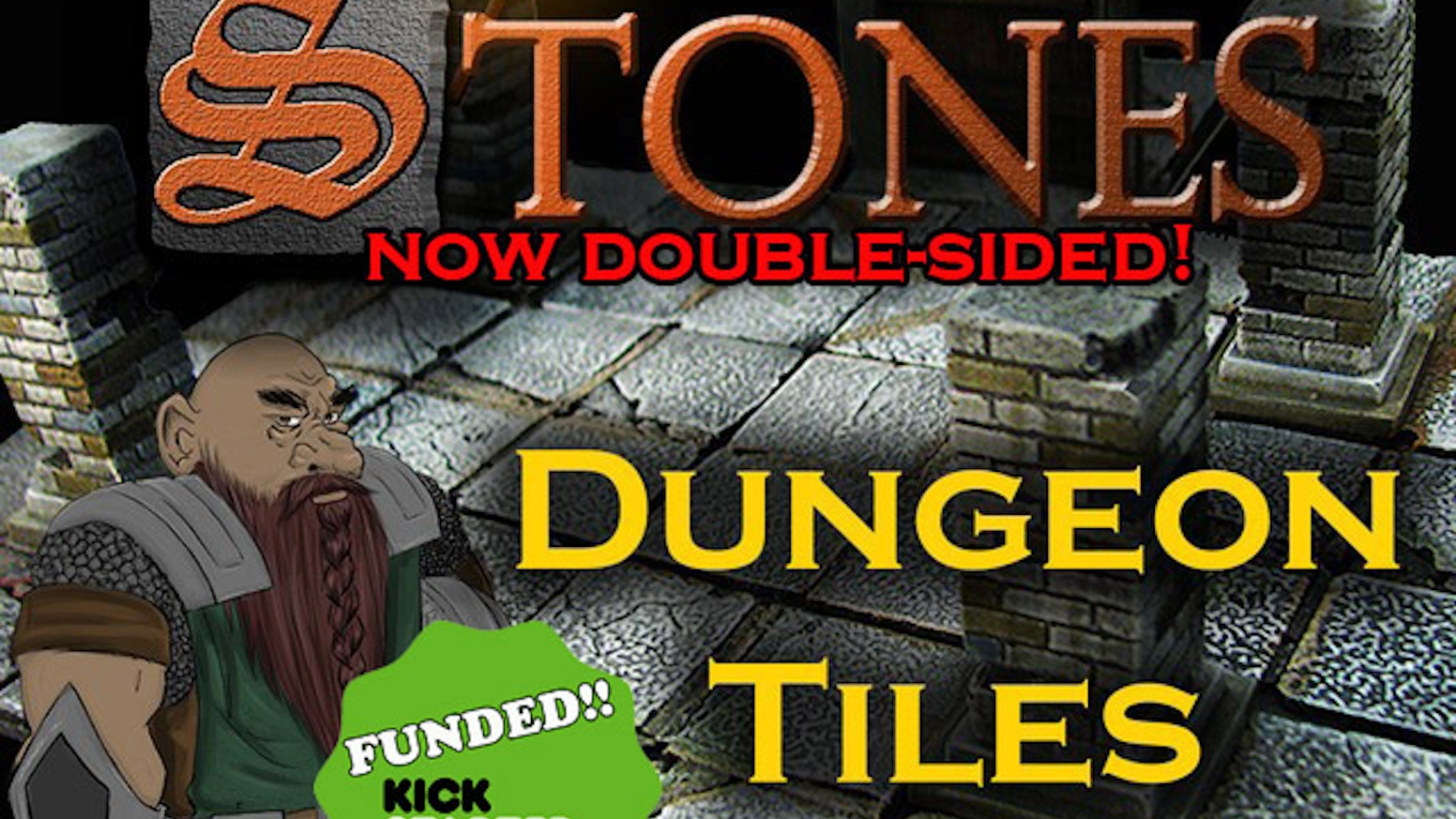 "Highly-detailed 2x2"" dungeon tiles made of a durable polymer-plastic & VERY affordable cost. Perfect for tabletop & role-playing games.Available now! http://frontline-games.com/en/37-stones-dungeon-tiles"