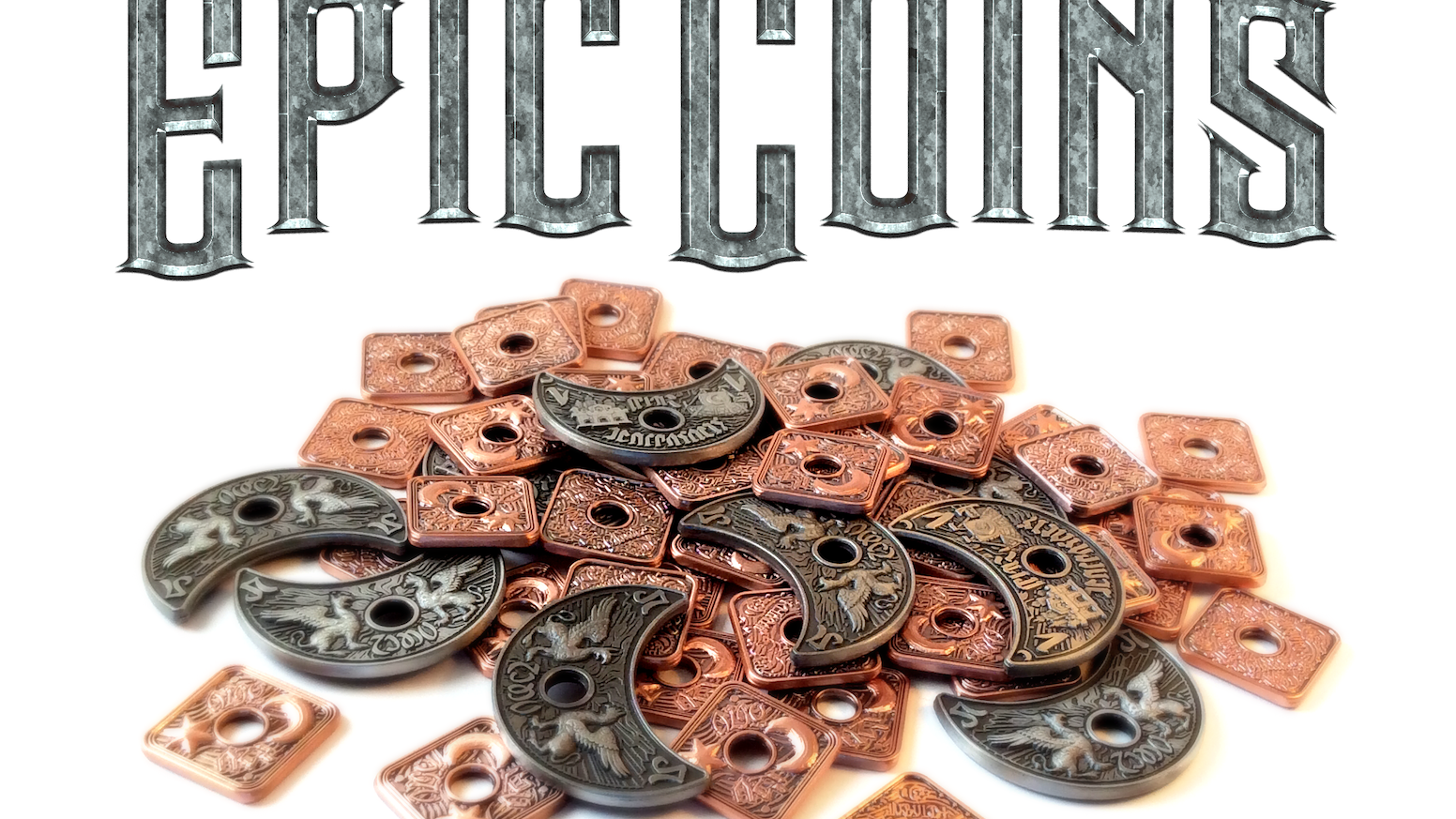 Epic Metal Coins for Tabletop Gaming by Infinity Plus One