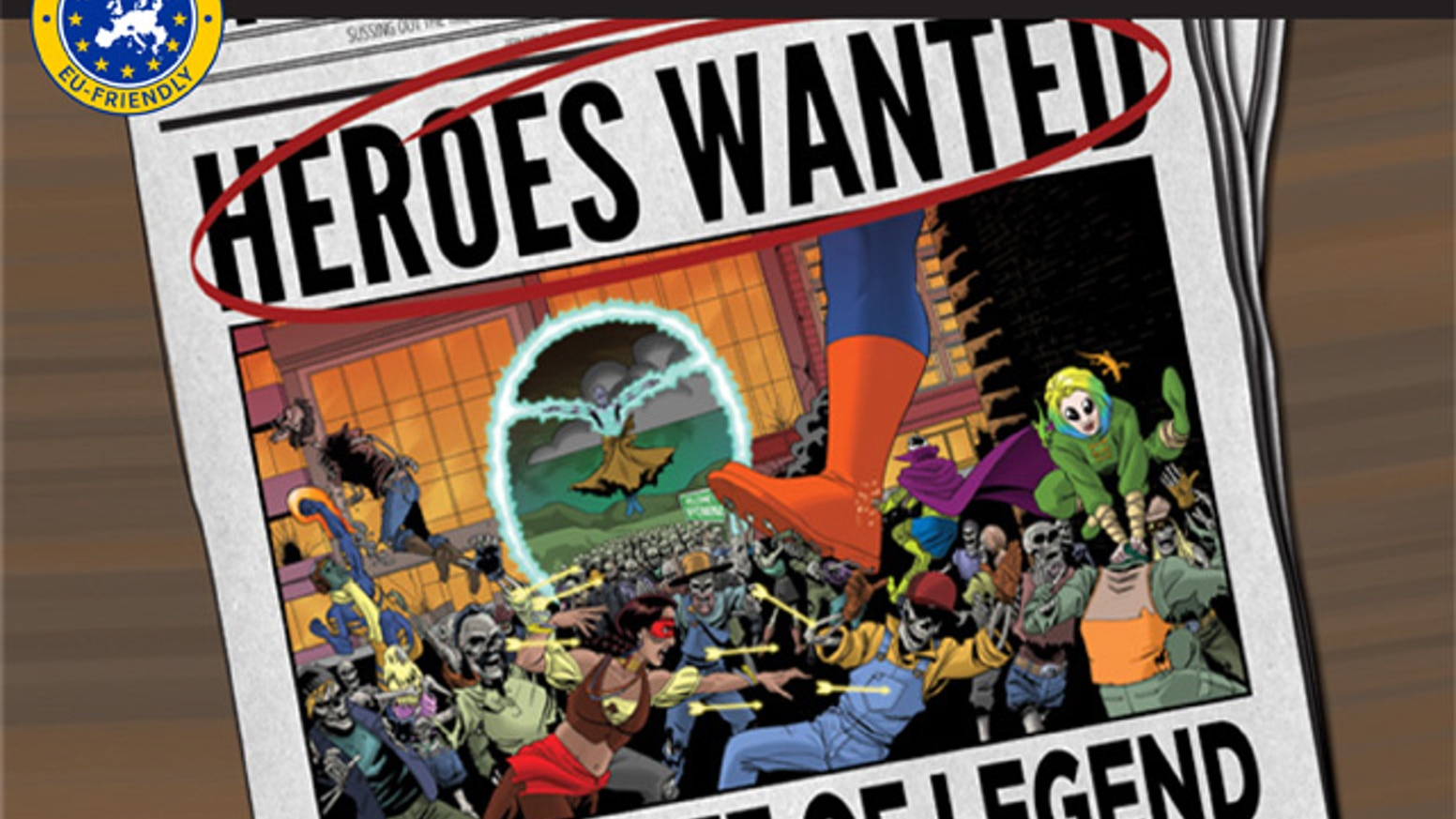 The first full expansion for Heroes Wanted, introducing Supernatural and Mythic heroes, new mechanics, and two new scenarios!