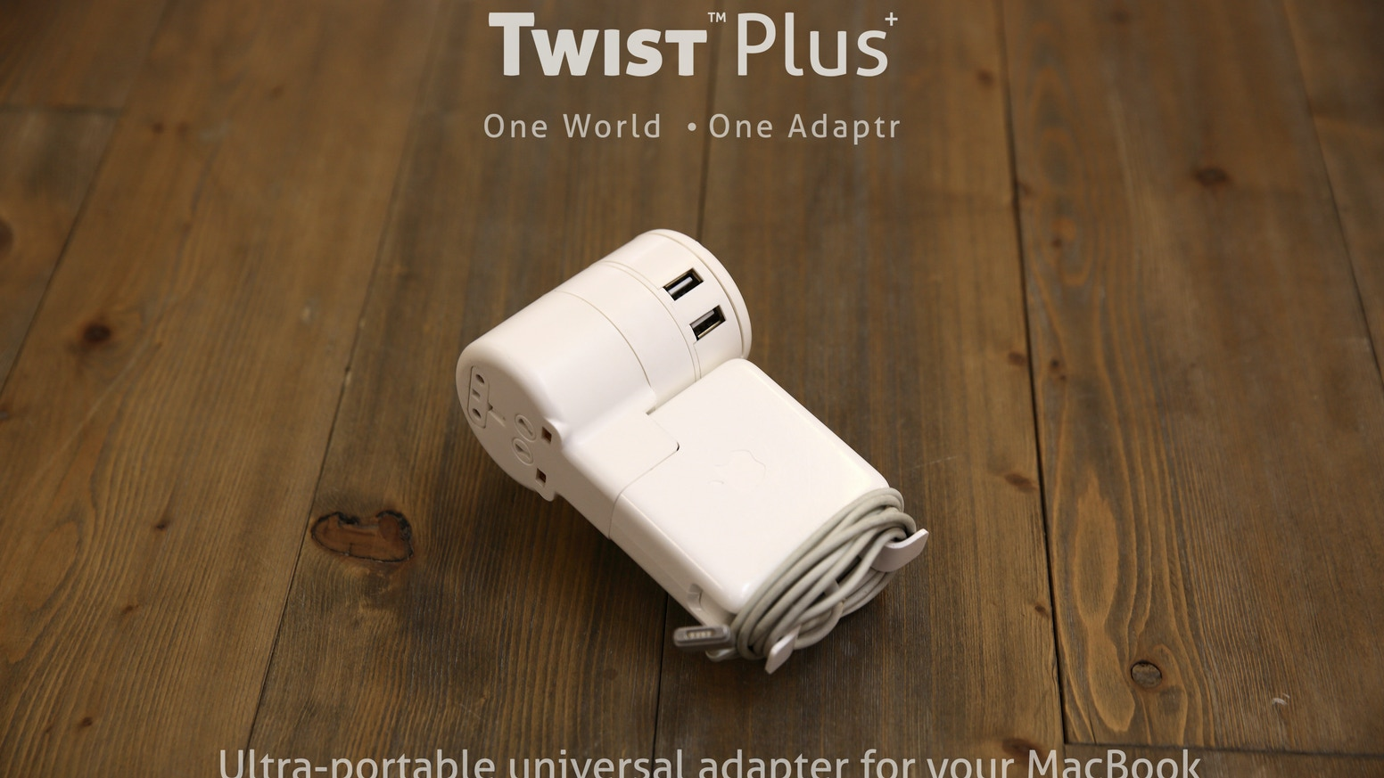 Twist is a ultra-portable universal adapter for MacBook with optional 4 USB charging ports, universal outlet and easy to use design.