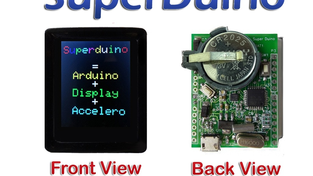 SuperDuino: Arduino Compatible + Color Display + Acceleromtr project video thumbnail