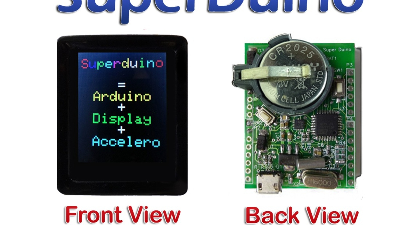 SuperDuino: Arduino Compatible + Color Display + Acceleromtr