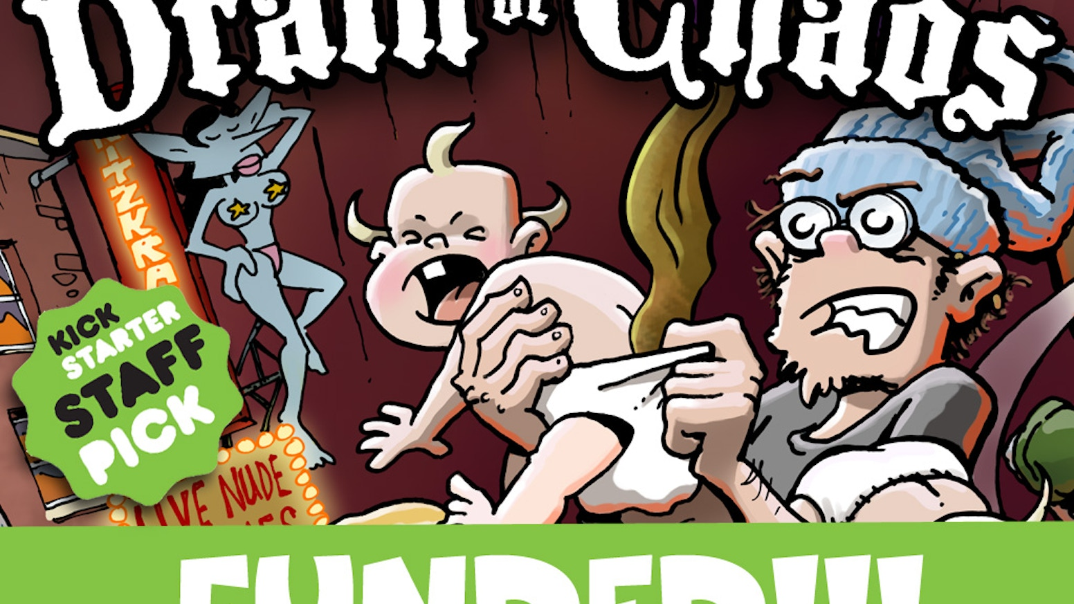 The epic comic-strip fantasy saga of an irresponsible wizard coping with fatherhood in a city gone mad!