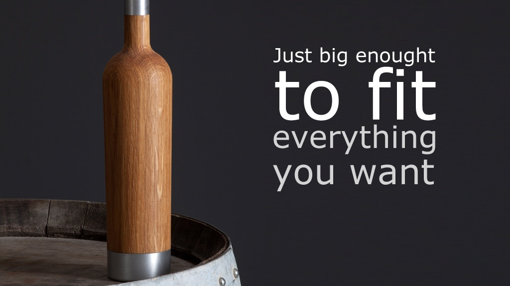 Pinocchio Barrique (barrel) Bottle. Drink the future u want! project video thumbnail