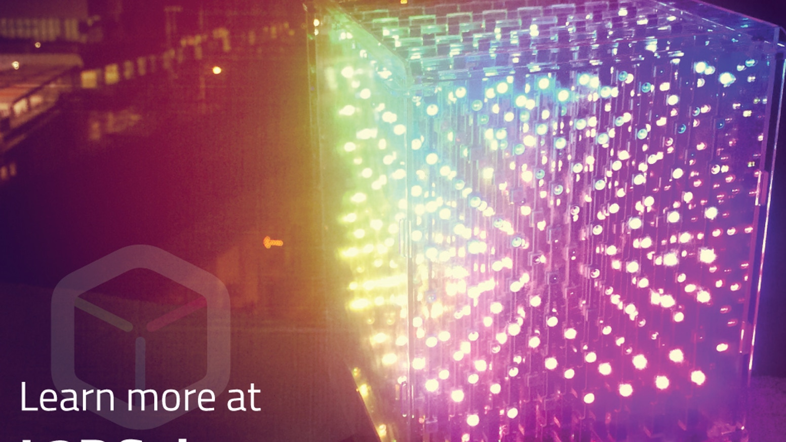 music + internet + 3D LEDS = L3D Cube.   Create and share in 3D.    Join the future!