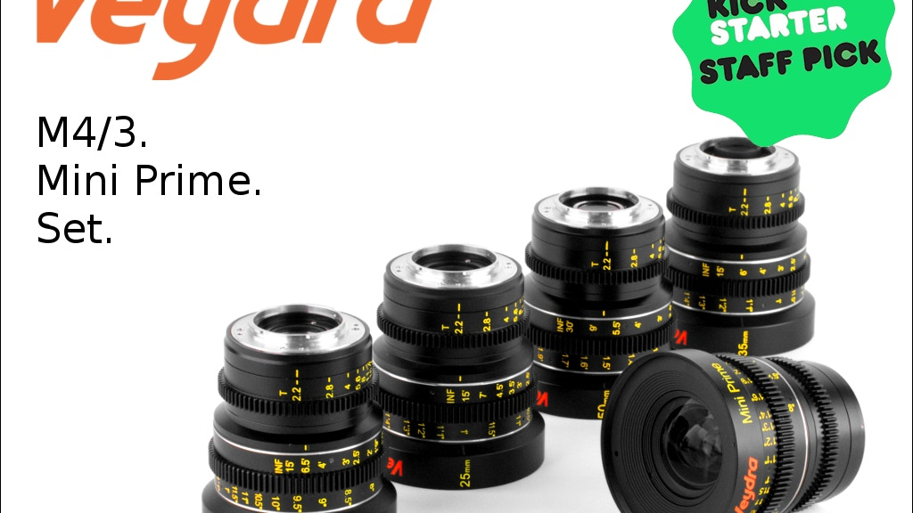 Veydra - M4/3 Cinema Lenses for GH4 and BMPCC project video thumbnail