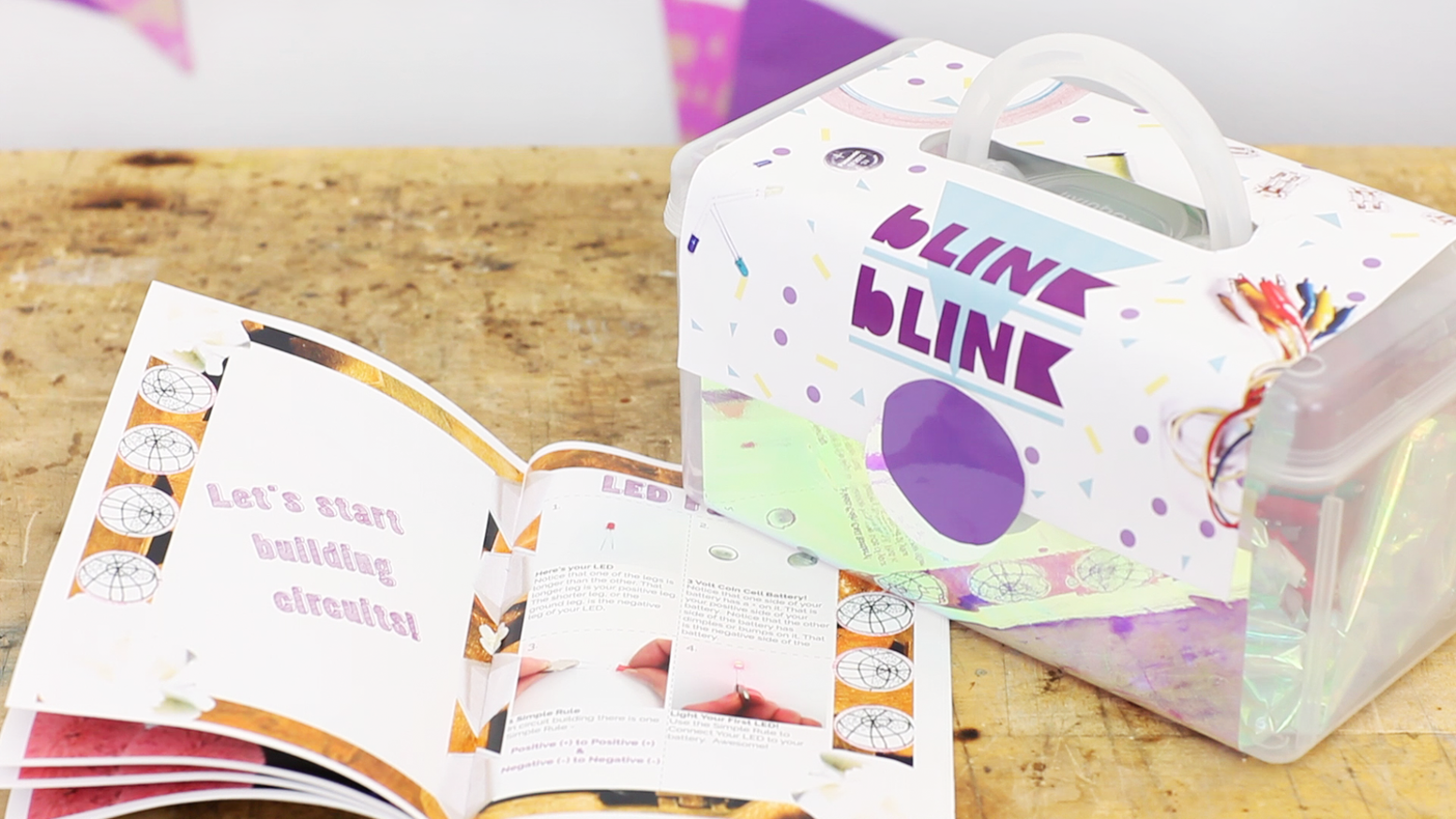 blink blink kits provide circuit materials to make fun DIY, art & fashion projects with technology. Designed with girls, for girls!