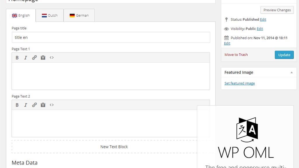 Project image for A free Wordpress Multilanguage plugin