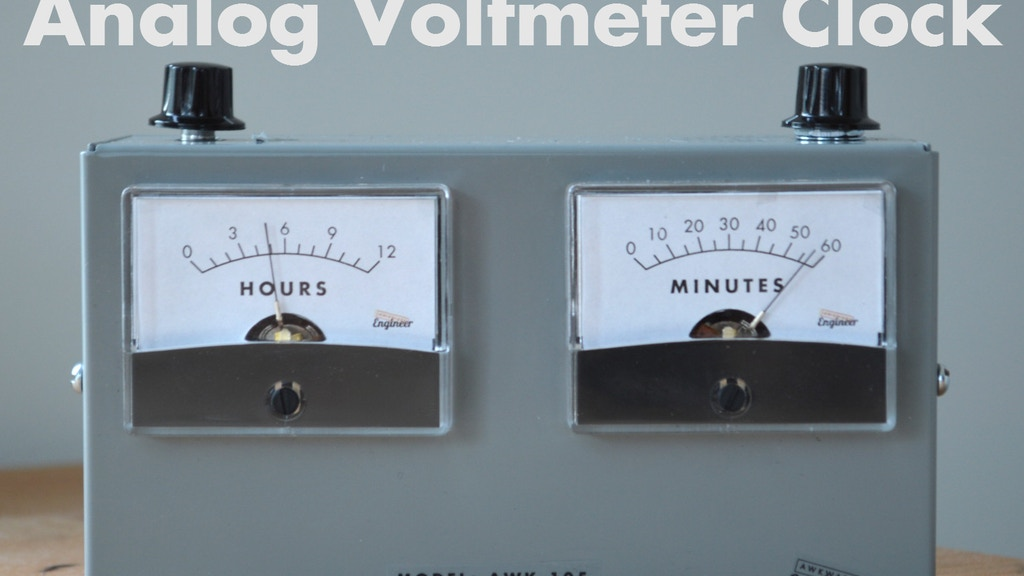 AWK-105 Analog Voltmeter Clock project video thumbnail