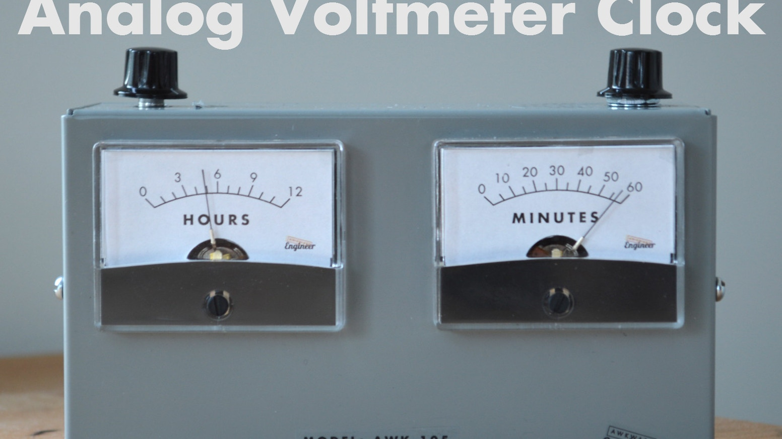 The Voltmeter Clock uses dual analog meters to tell time - one for hours and and one for minutes. It's both stylish and functional!